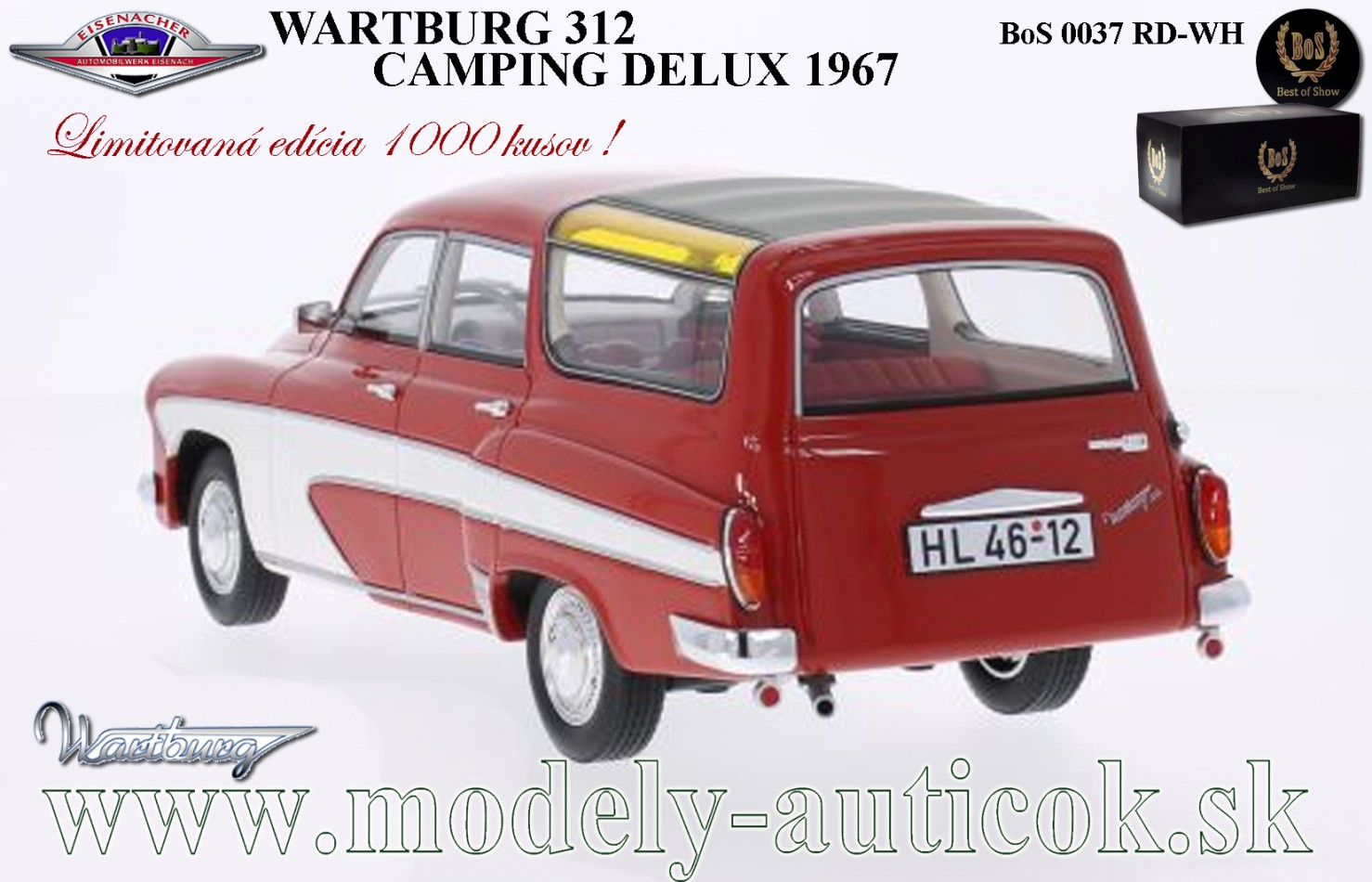 wartburg 312 camping delux 1967 automodely cmc bbr. Black Bedroom Furniture Sets. Home Design Ideas